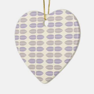 Patterned Heart Ceramic Ornament