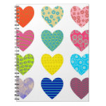 Patterned Hearts Notebook