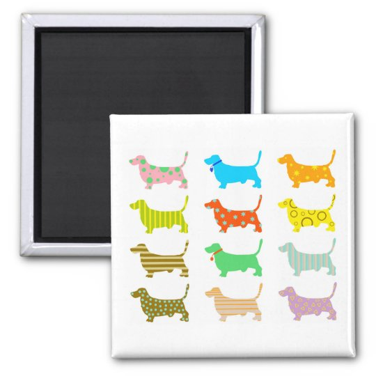 patterned-hound-dogs magnet