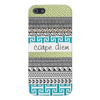 Patterned iPhone 5 Case: Seize the Day Case For iPhone SE/5/5s