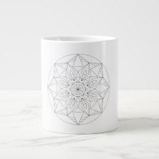 Patterned Large Coffee Mug