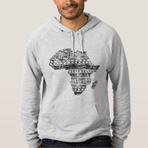 Patterned Map of Africa Hoodie