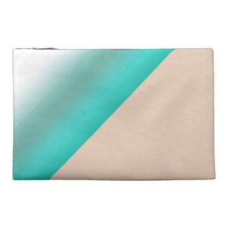 Patterned Mint Ombre Watercolor Green Color Travel Accessories Bags