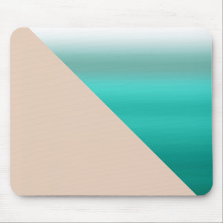Patterned Mint Ombre Watercolor Green Color Mouse Pad