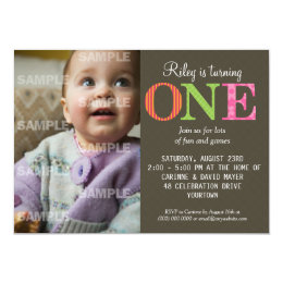 1 year old birthday invitations announcements zazzle patterned one birthday party invitation filmwisefo Gallery
