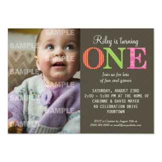 1 Year Old Birthday Invitations Announcements Zazzle