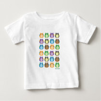 Patterned Owls Baby T-Shirt