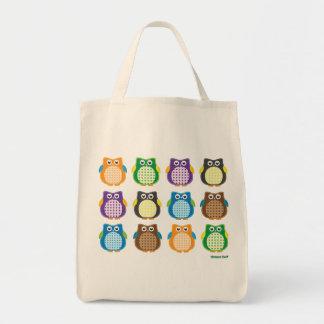 Patterned Owls Tote Bag