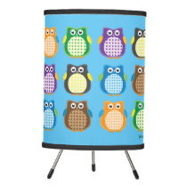Patterned Owls Tripod Lamp