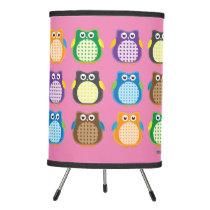 Patterned Owls Tripod Lamp