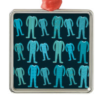 Patterned Pajama Party Metal Ornament