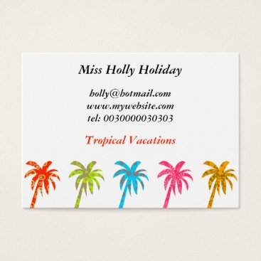 Professional Business Patterned Palm Trees, Miss Holly Holiday, Business Card
