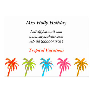 Patterned Palm Trees, Miss Holly Holiday, Business Cards