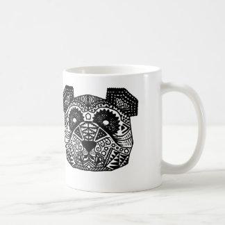 Patterned Panda Classic White Coffee Mug