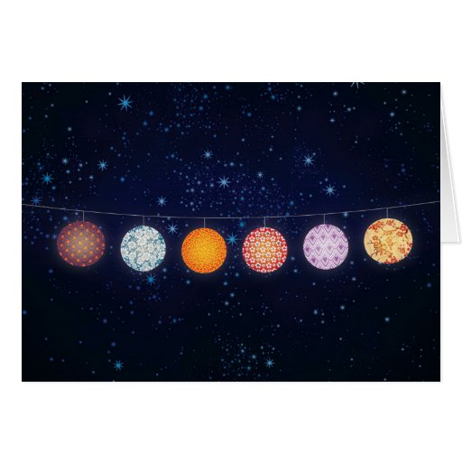 Patterned Paper Lanterns and Starry Sky Greeting Cards