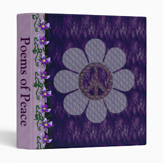 Patterned Peace Flower 3 Ring Binder