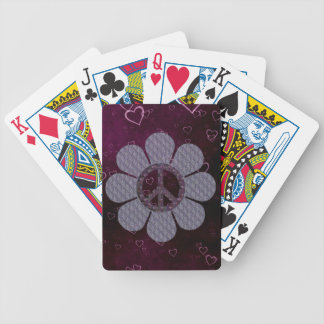 Patterned Peace Flower Bicycle Playing Cards