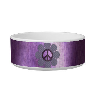 Patterned Peace Flower Bowl