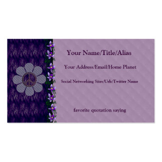 Patterned Peace Flower Business Card