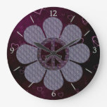 Patterned Peace Flower Clock