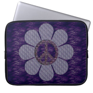 Patterned Peace Flower Computer Sleeve