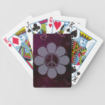 Patterned Peace Flower Deck Of Cards