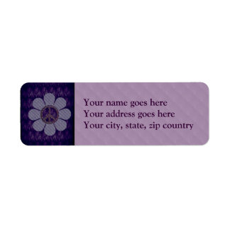 Patterned Peace Flower Label