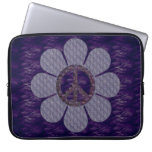 Patterned Peace Flower Laptop Computer Sleeves