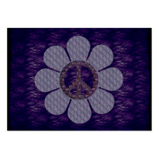 Patterned Peace Flower Large Business Card