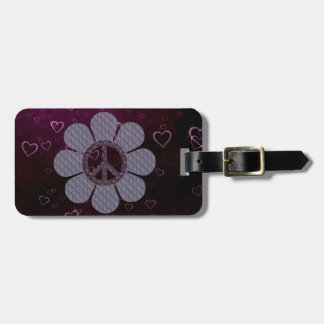 Patterned Peace Flower Tags For Bags