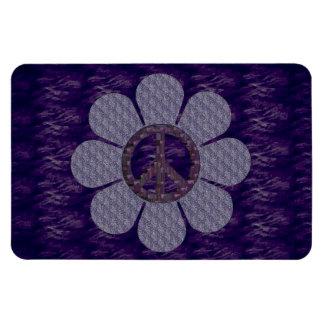 Patterned Peace Flower Rectangular Photo Magnet