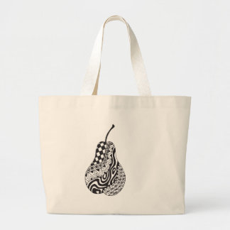 patterned pear tote bag