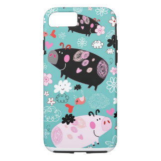 Patterned Piggies iPhone 7 Case