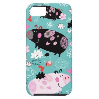 Patterned Piggies iPhone SE/5/5s Case