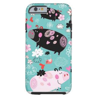 Patterned Piggies Tough iPhone 6 Case