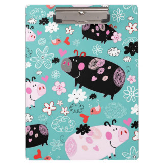 Patterned Piggy Clipboard