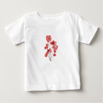 Patterned Poppies Baby T-Shirt