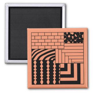 Patterned Rectangles Magnet