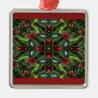 Patterned Red and Green for Christmas Metal Ornament
