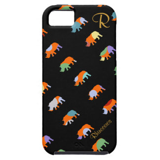 patterned rhino cute iPhone 5 cover