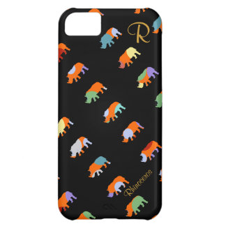 patterned rhino cute iPhone 5C cover