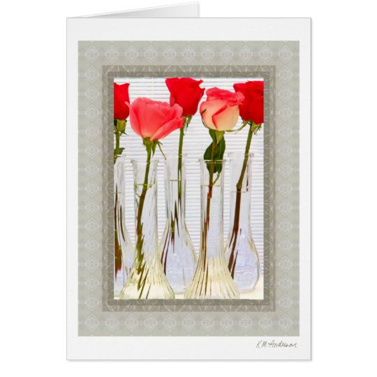 Patterned rose (right) card