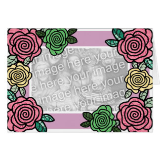 Patterned Roses Card