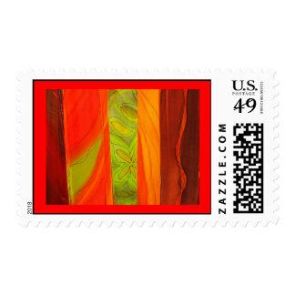 patterned scarves postage