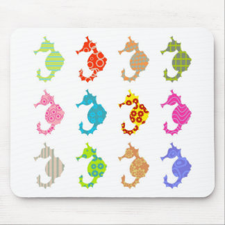 Patterned Seahorse Mouse Pad
