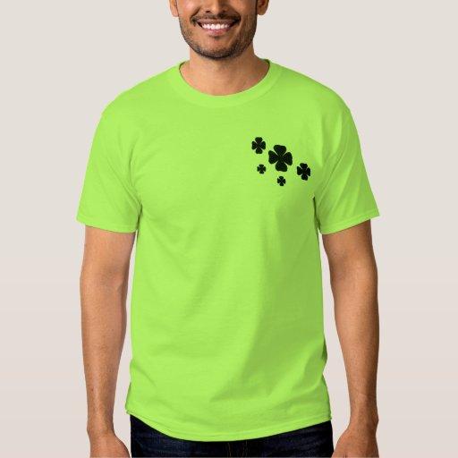 Patterned Shamrocks Proud Irish T-shirt