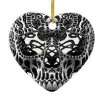 Patterned Skull.png Ceramic Ornament