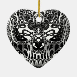 Patterned Skull.png Ceramic Ornament