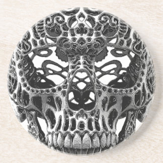 Patterned Skull.png Coaster