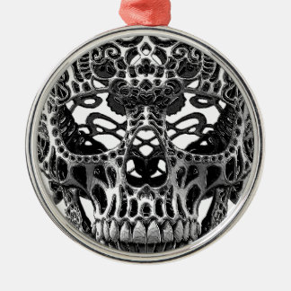 Patterned Skull.png Metal Ornament